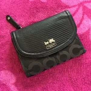 Coach signature black wallet